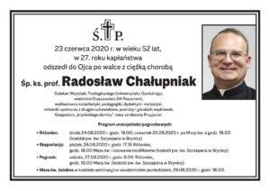 Ksiądz Radosław Chałupniak odszedł do Ojca po walce z ciężką chorobą