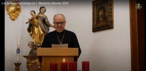List Biskupa Opolskiego na 1. Niedzielę Adwentu 2020